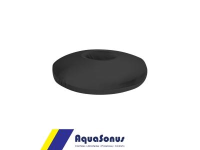Almofada espuma redonda p/  cóccix rev. pol fria preta