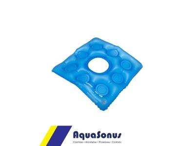 Almofada caixa de ovo inflável quadrada com orifício