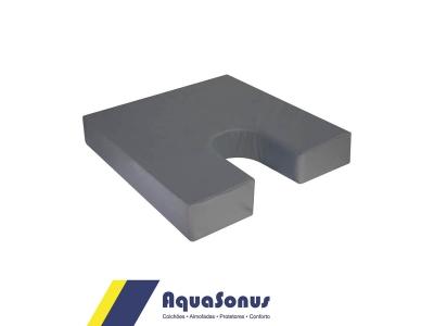 Almofada de espuma p/ Cóccix rev. em courvin  cinza