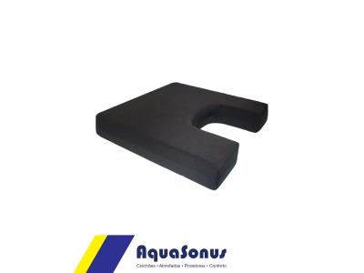Almofada em espuma para cóccix rev. pol fria preta