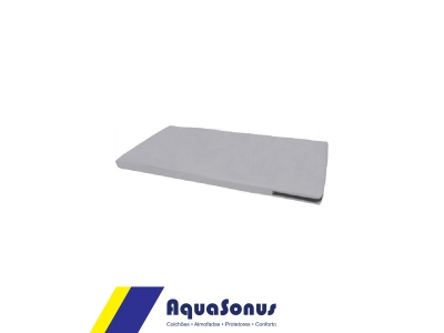 Apoio abdominal lombar ABMAT em aglomerado de espuma Ds80, revestida  em courvin cor cinza