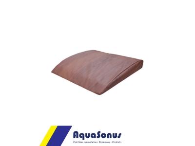 Apoio abdominal lombar ABMAT em aglomerado de espuma Ds80, revestida  em courvin cor marrom