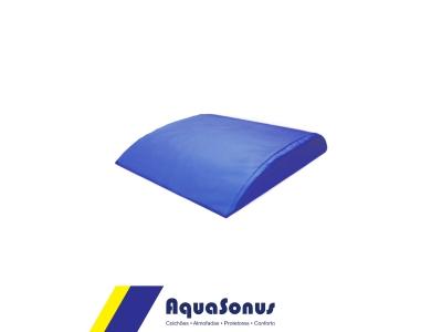 Apoio abdominal lombar ABMAT em aglomerado de espuma Ds80, revestida  em courvin cor azul