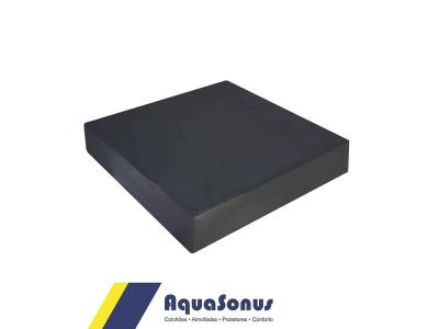 Almofada espuma quadrada rev. em courvin preto