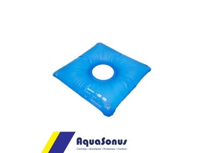 Almofada d´agua quadrada com orifício